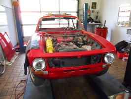 Autoservice Oldtimer Alfa GT Junior Frontansicht Muenchen