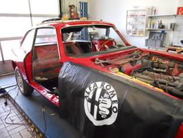 Autoservice Oldtimer Alfa GT Junior Seitenansicht Muenchen