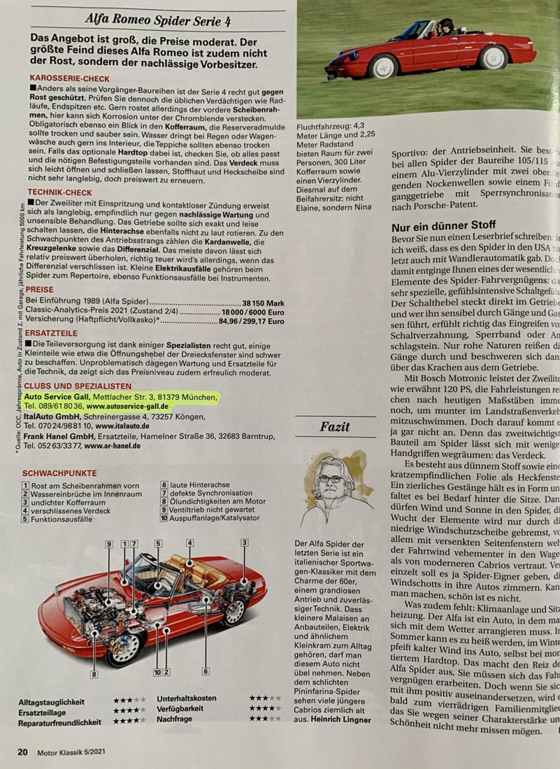 Motor klassik artikel